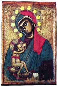 Negli anni Settanta, a Cosenza, fu stabilito che questo dipinto a tempera su tavola raffigurante la Madonna del Pilerio risalirebbe al XII secolo.